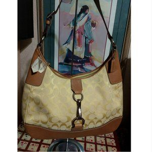 RARE Vtg Lemon Yellow Coach Hobo Handbag NWT